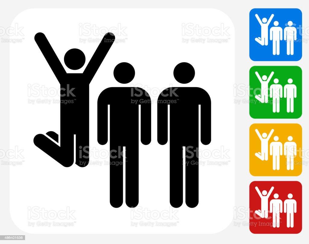 Small Group Celebration Icon Flat Graphic Design vector art illustration