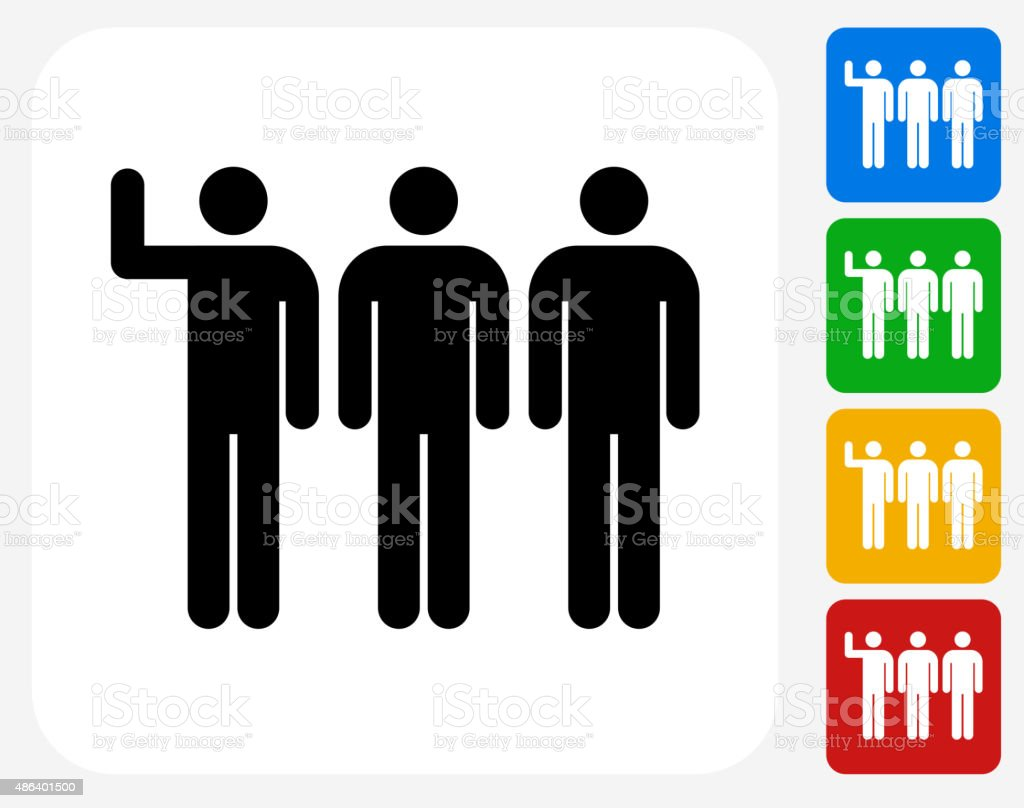 Small Group Icon Flat Graphic Design vector art illustration