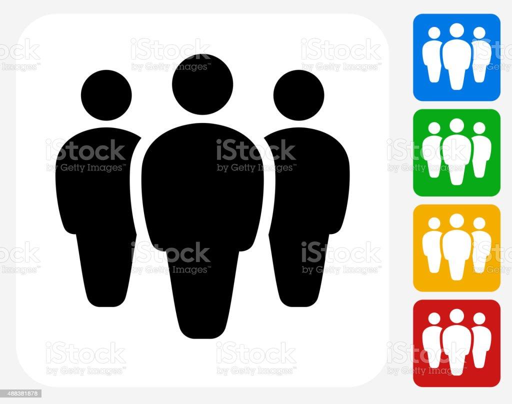 Small Group Icon Flat Graphic Design vector art illustration