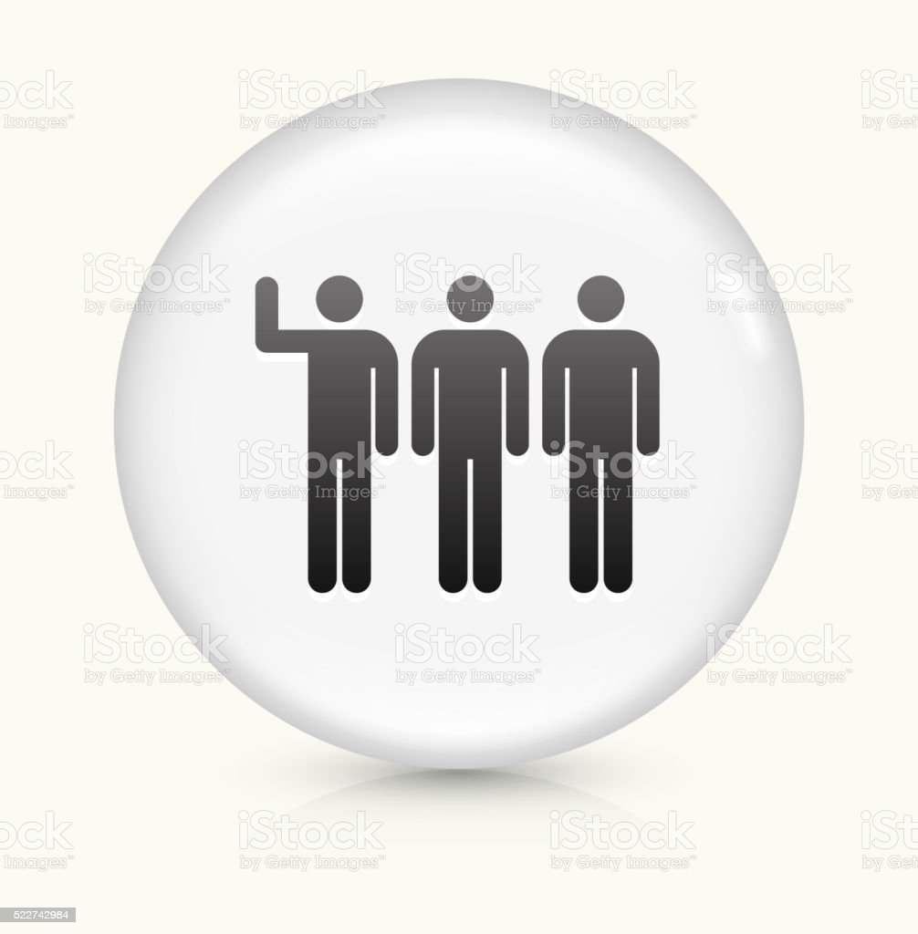 Small Group icon on white round vector button vector art illustration