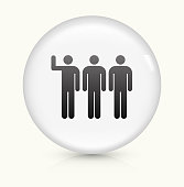 Small Group icon on white round vector button