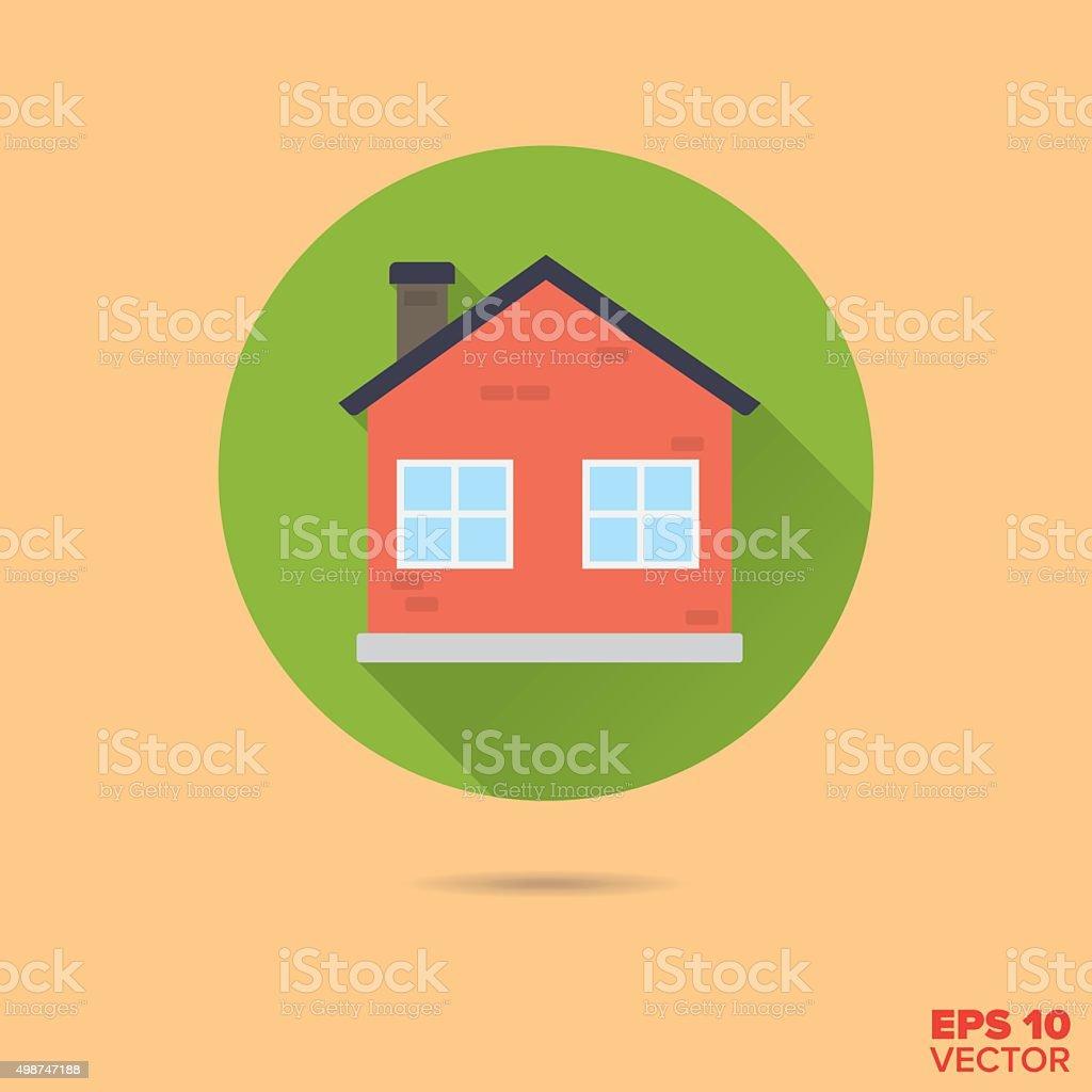 small house flat design vector icon vector art illustration