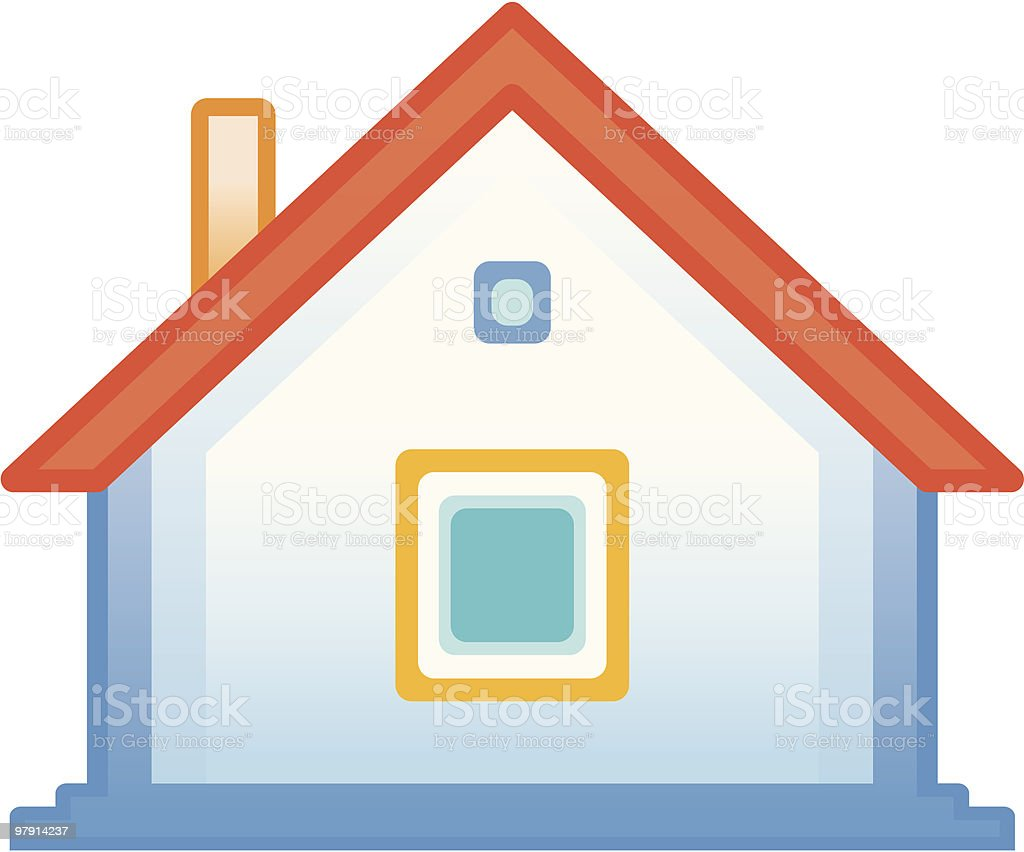 Small house vector icon vector art illustration