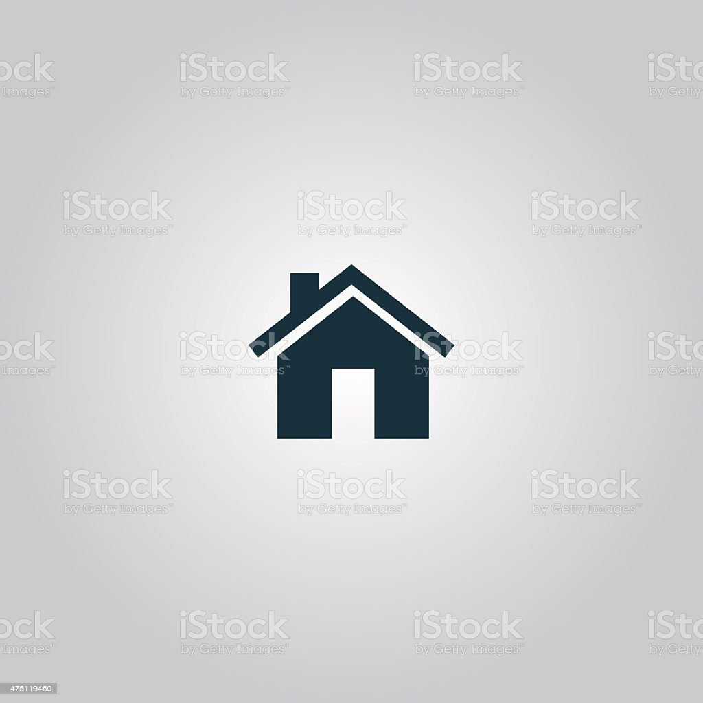Small house vector art illustration