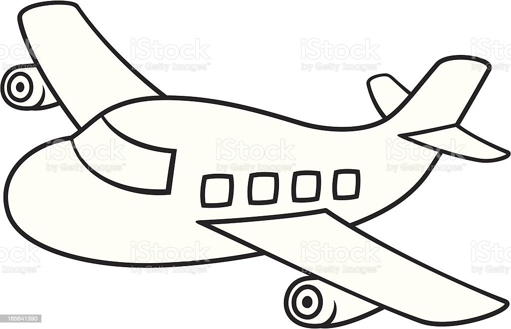 Small Jet royalty-free stock vector art