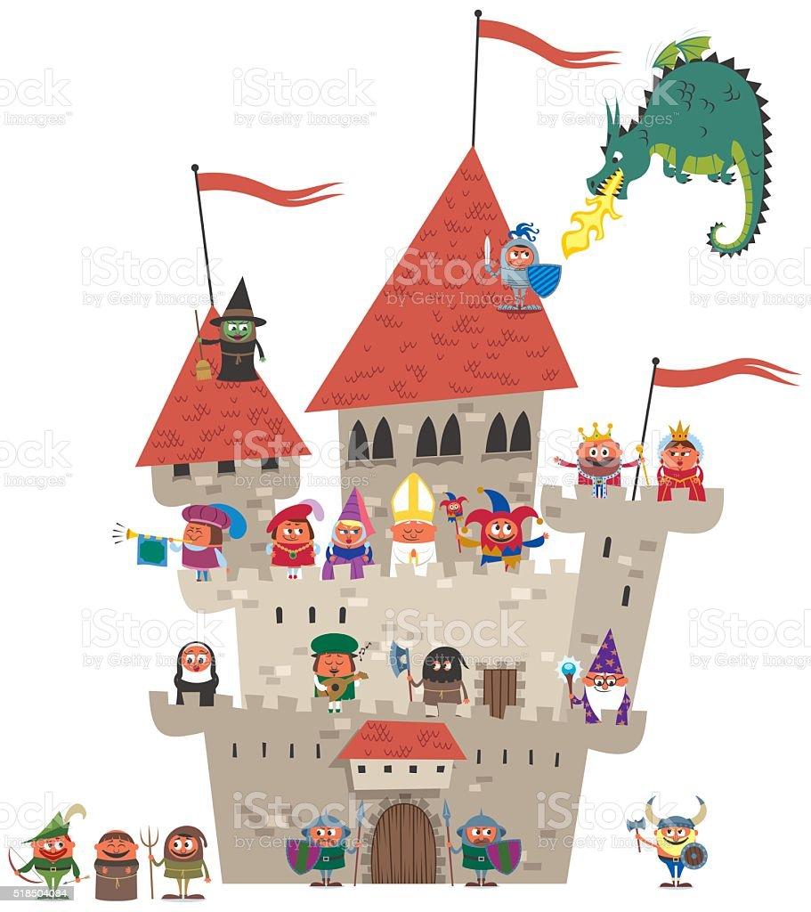 Small Kingdom on White vector art illustration