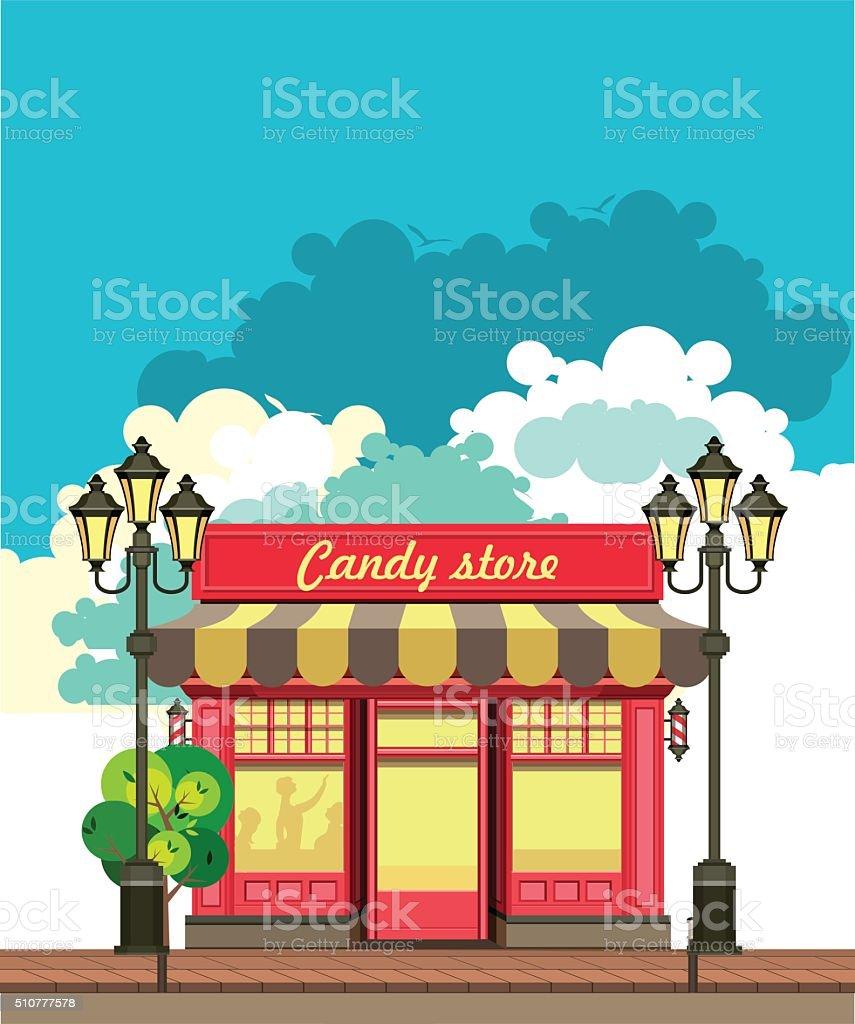 small local store vector art illustration