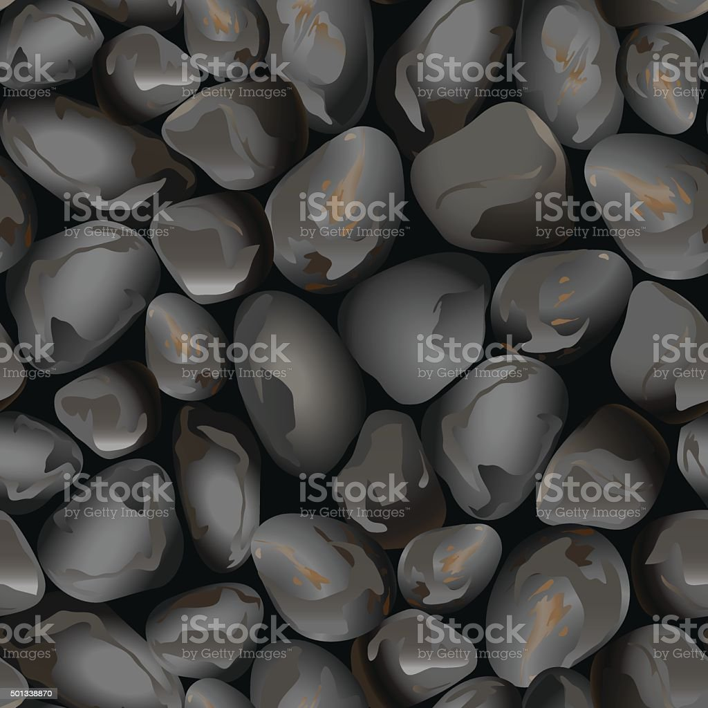 Small rocks in a seamless pattern vector art illustration