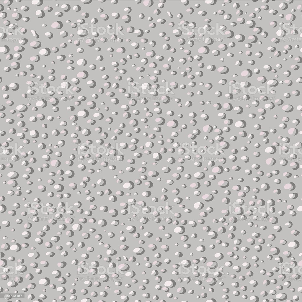 Small round grey stones vector art illustration
