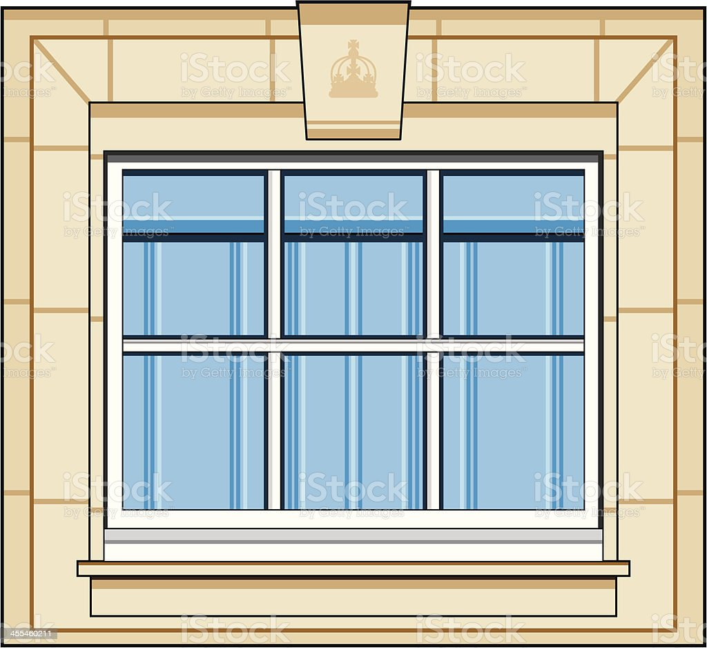 Small Sash Window royalty-free stock vector art