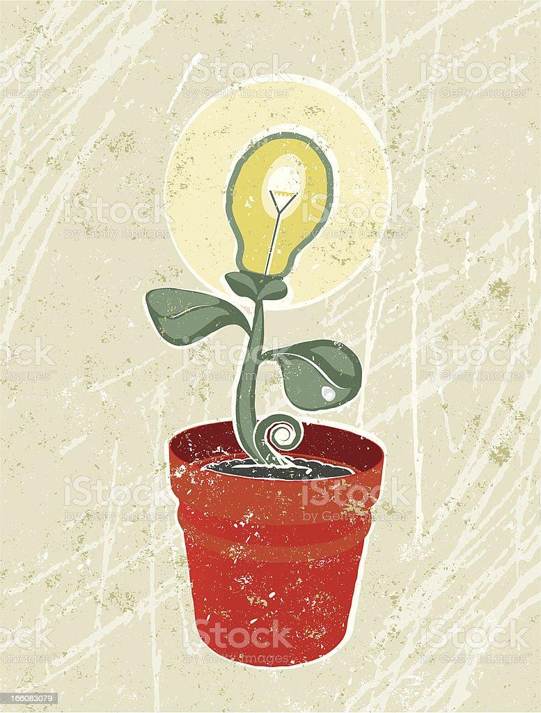 Small seedling with Lightbulb Flower royalty-free stock vector art
