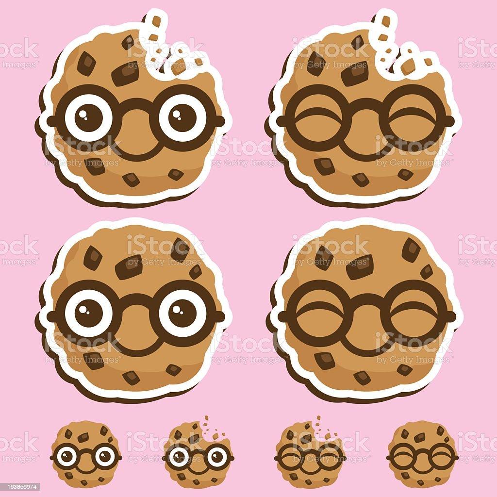 Small smart cookie business logos vector art illustration