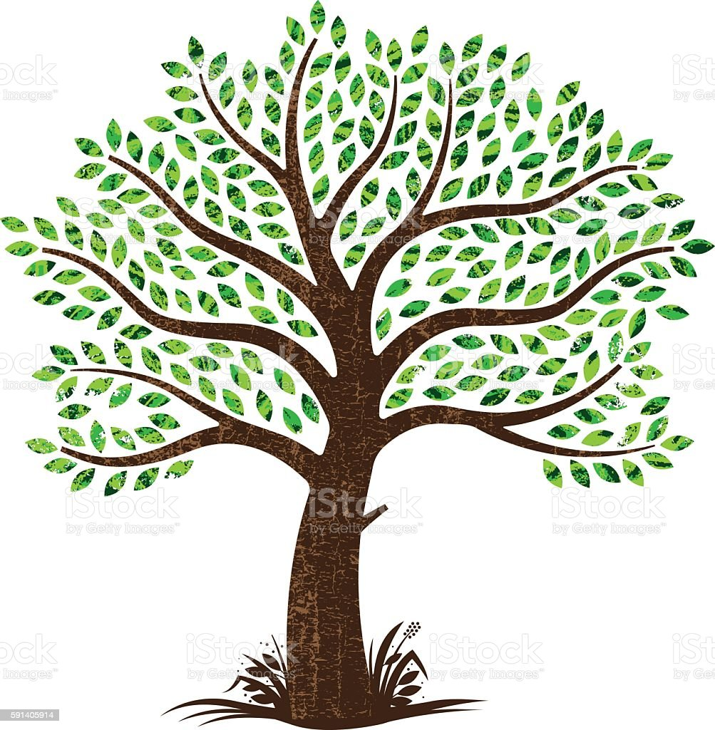 Small tree illustration vector art illustration
