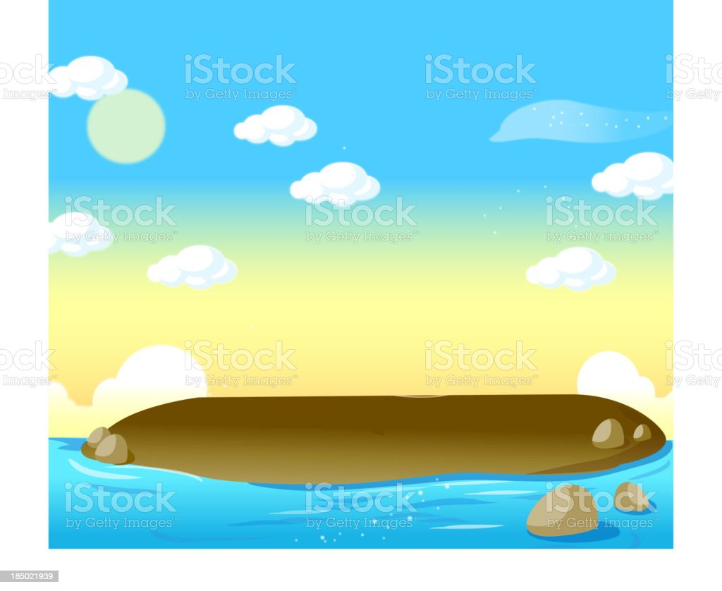 small tropical island royalty-free stock vector art