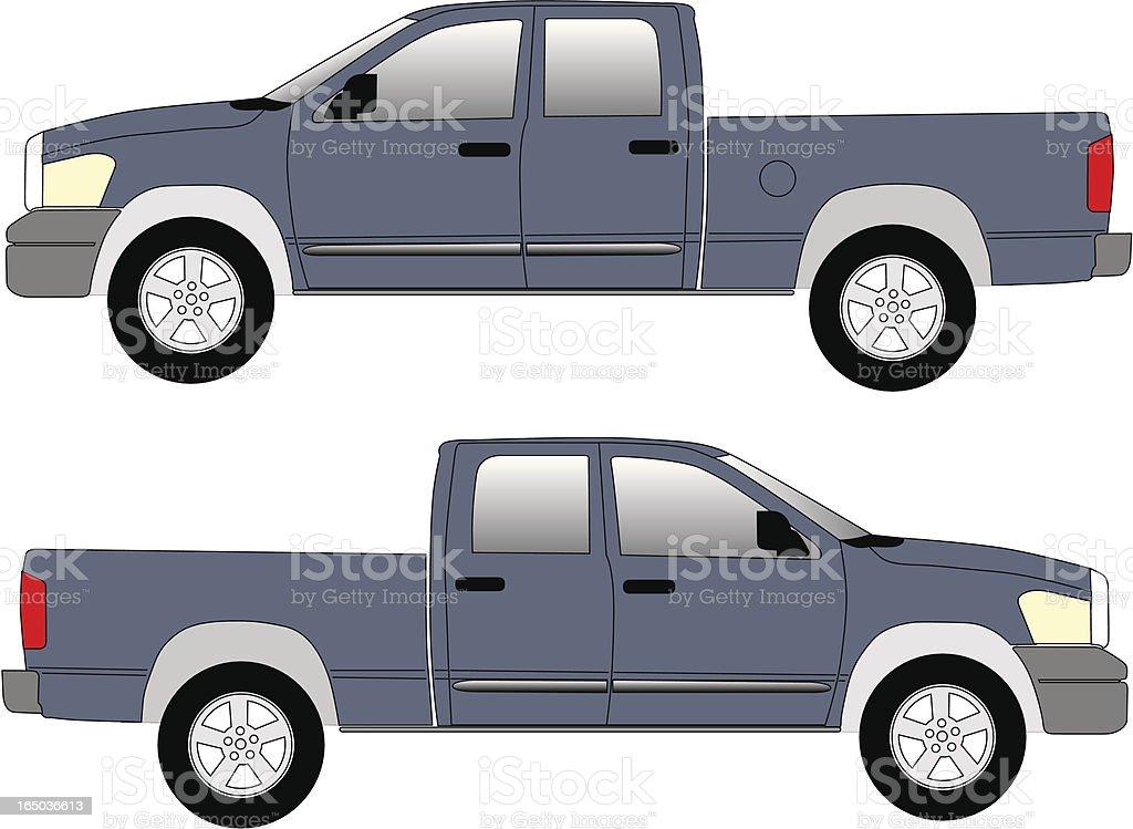 Small Truck Pick Up vector art illustration