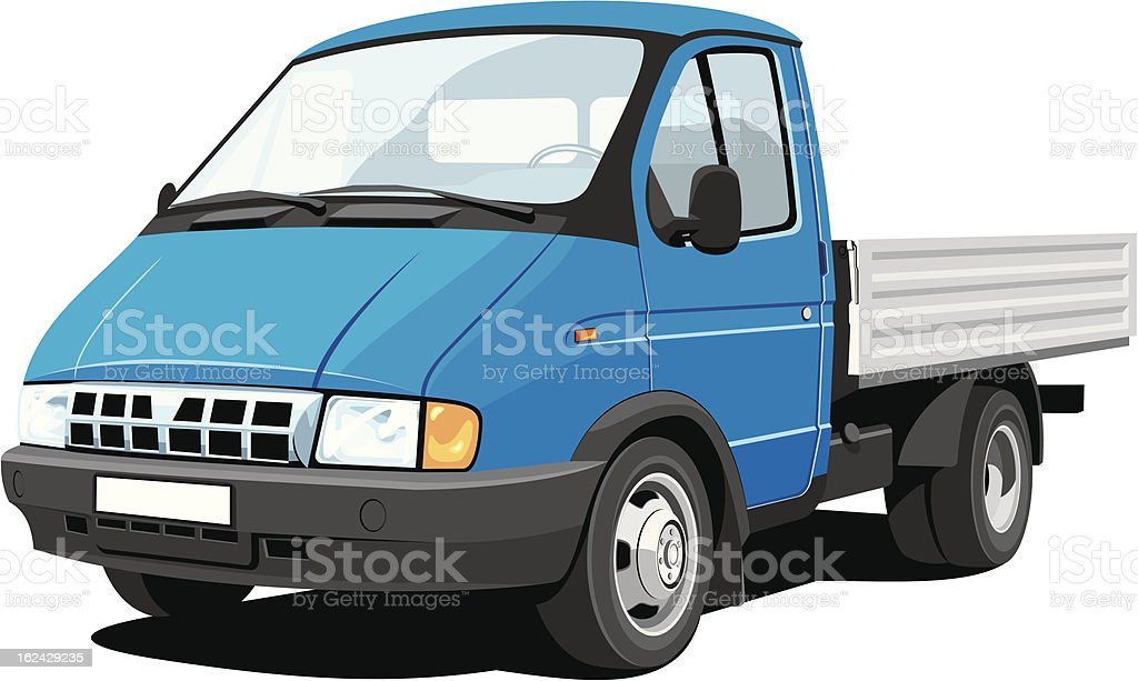 Small truck vector art illustration