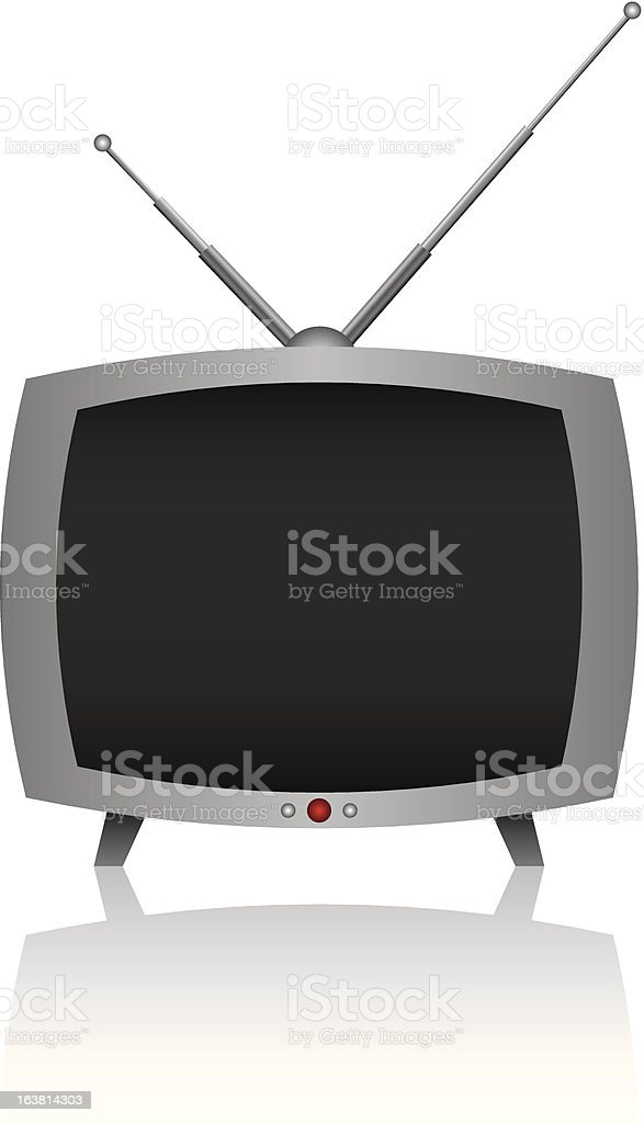 small tv royalty-free stock vector art