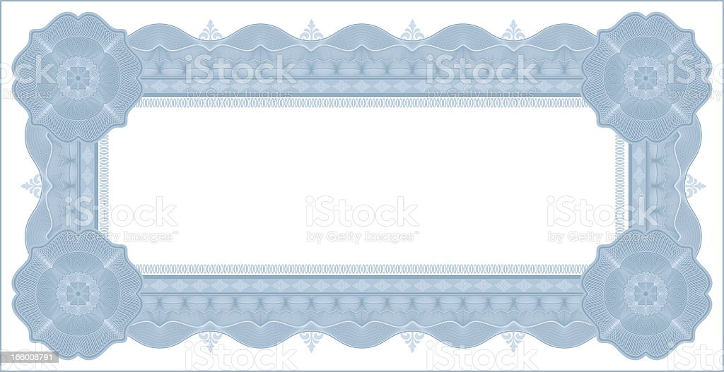 Small Vector Certificate - Coupon (BLUE VARIANT) royalty-free stock vector art