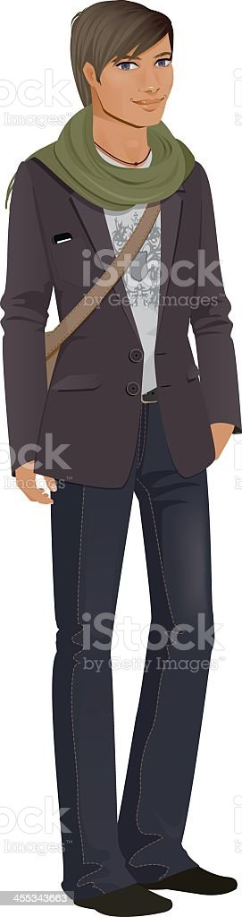 Smart Casual Student vector art illustration