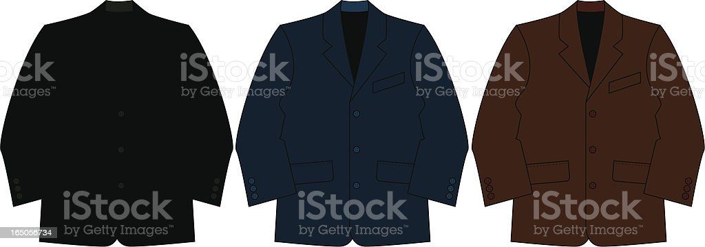 Smart Formal Suit Jacket royalty-free stock vector art