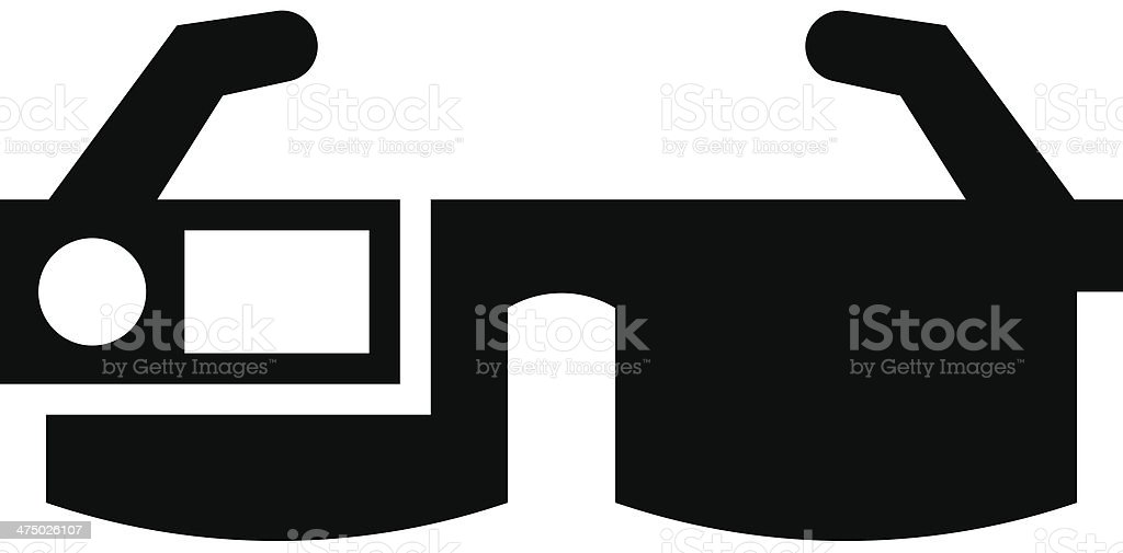 Smart glasses icon royalty-free stock vector art