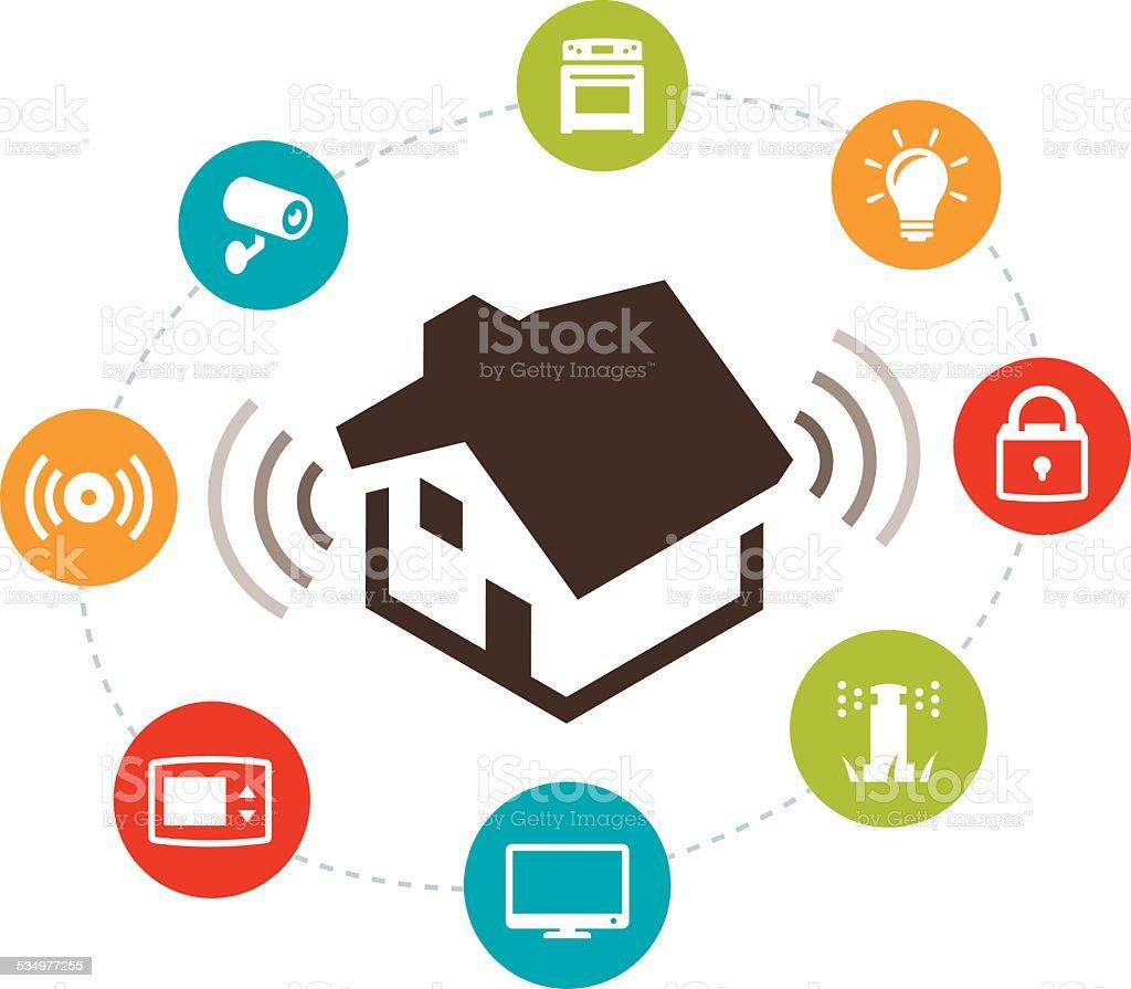 Smart Home Automation Illustration vector art illustration