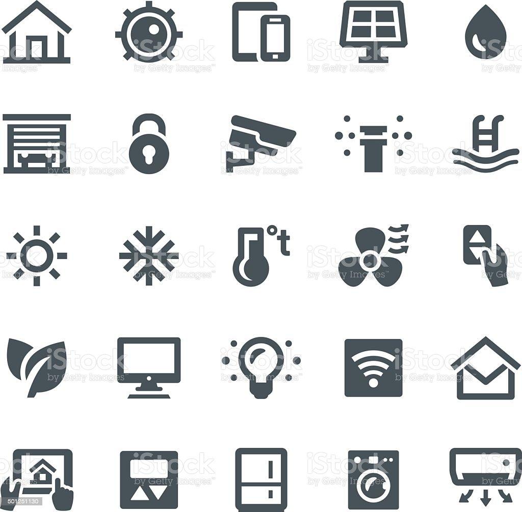 Smart Home Icons vector art illustration