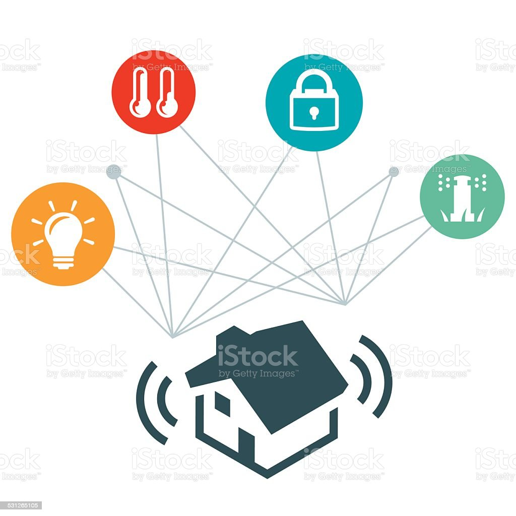 Smart Home Illustration vector art illustration
