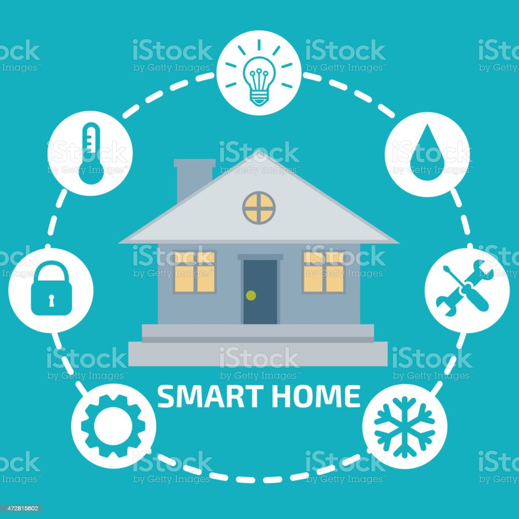 Smart Home Infographic vector art illustration
