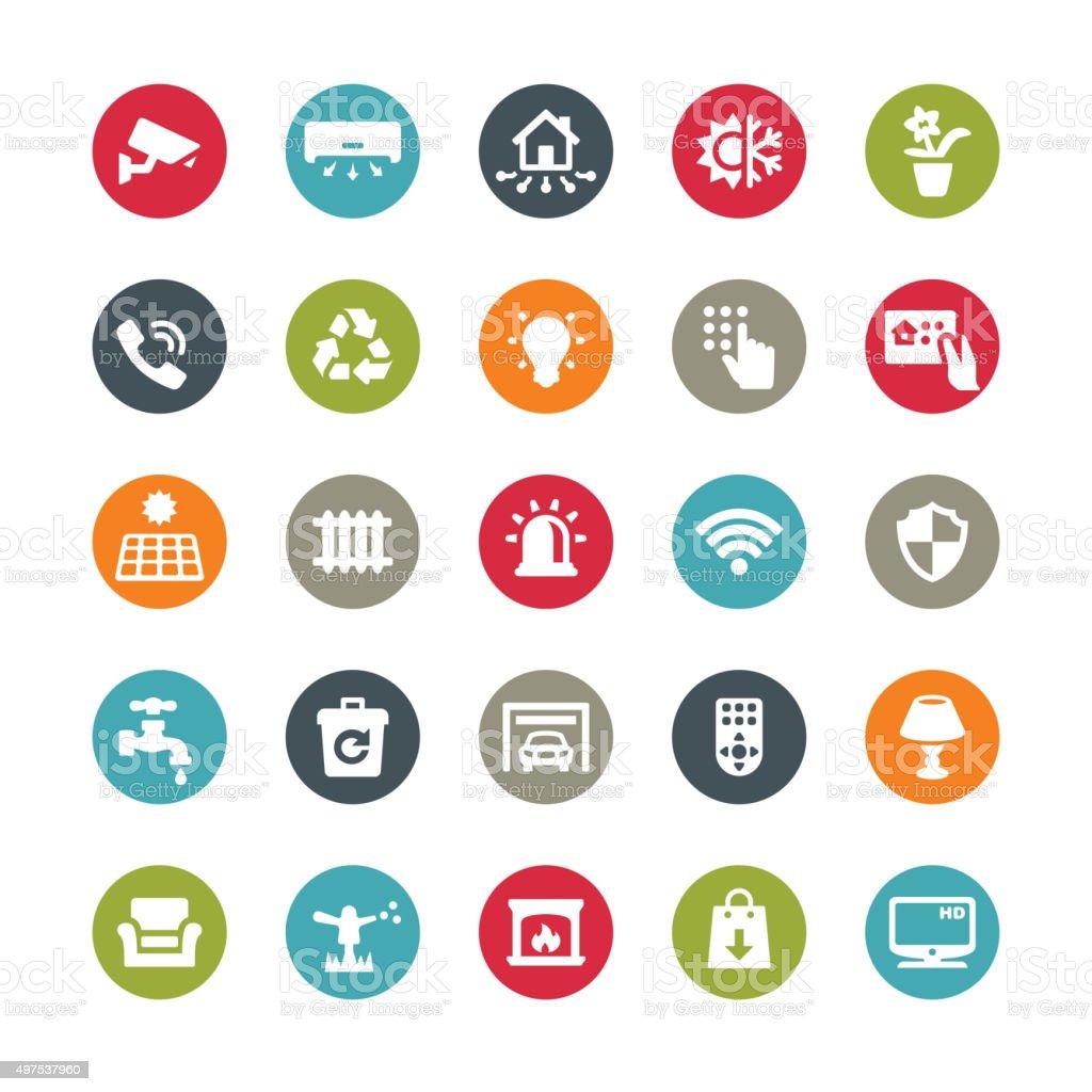 Smart House icons / Ringico series vector art illustration