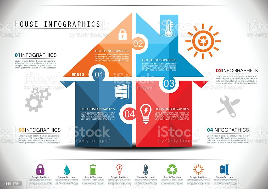 Smart House Infographics vector art illustration