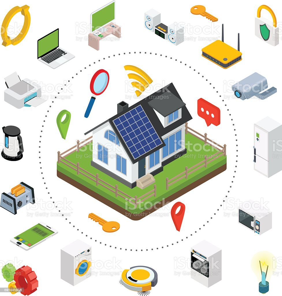 Smart House Technology Smart House Technology System With Centralized Control Stock