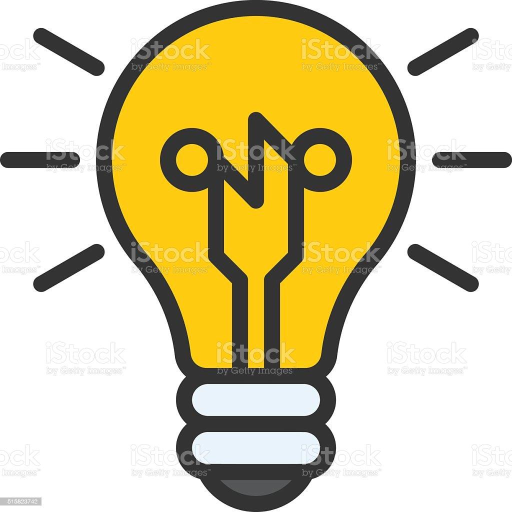 Smart Ideas Icon vector art illustration
