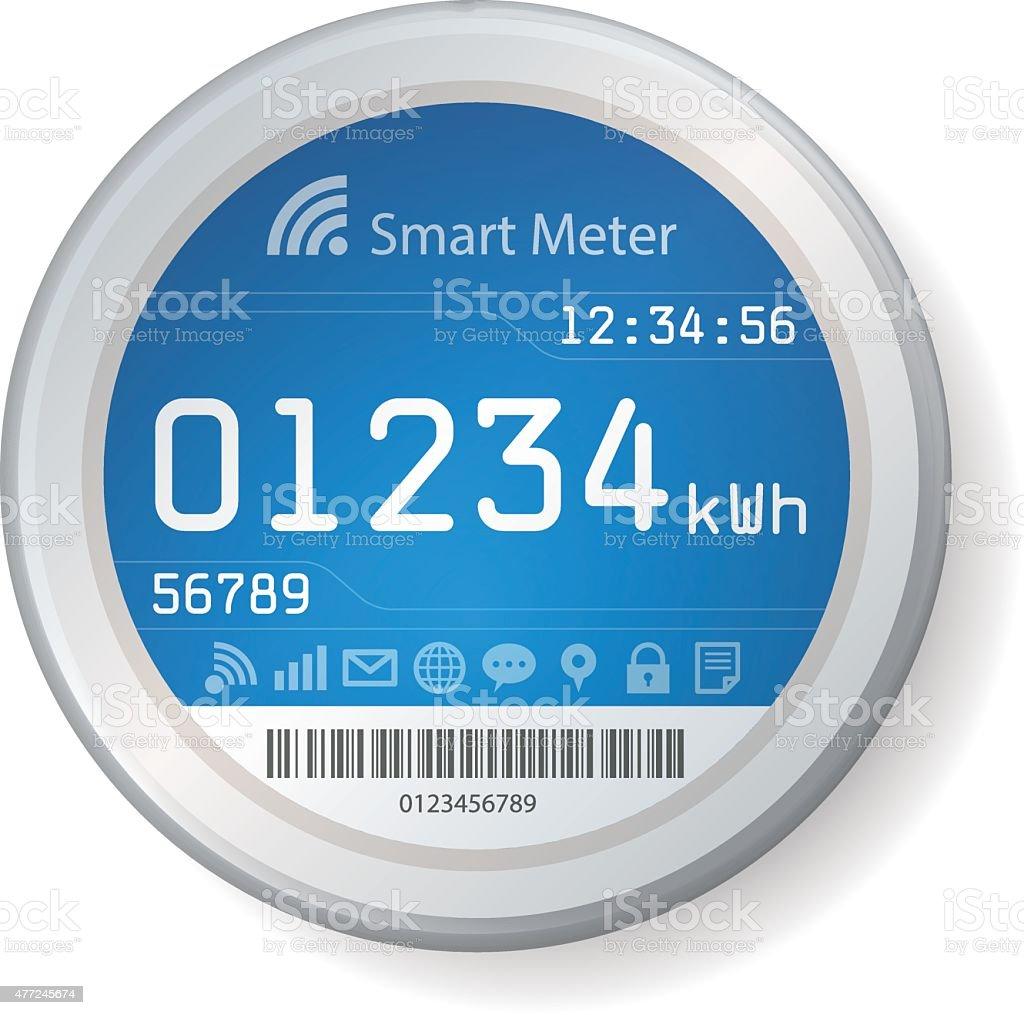 Smart Meter Illustration vector art illustration
