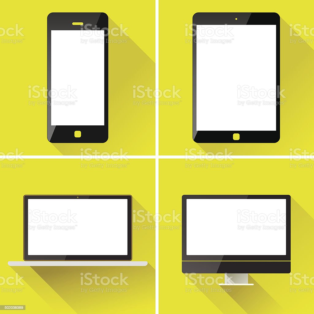 Smart phone and tablet vector art illustration