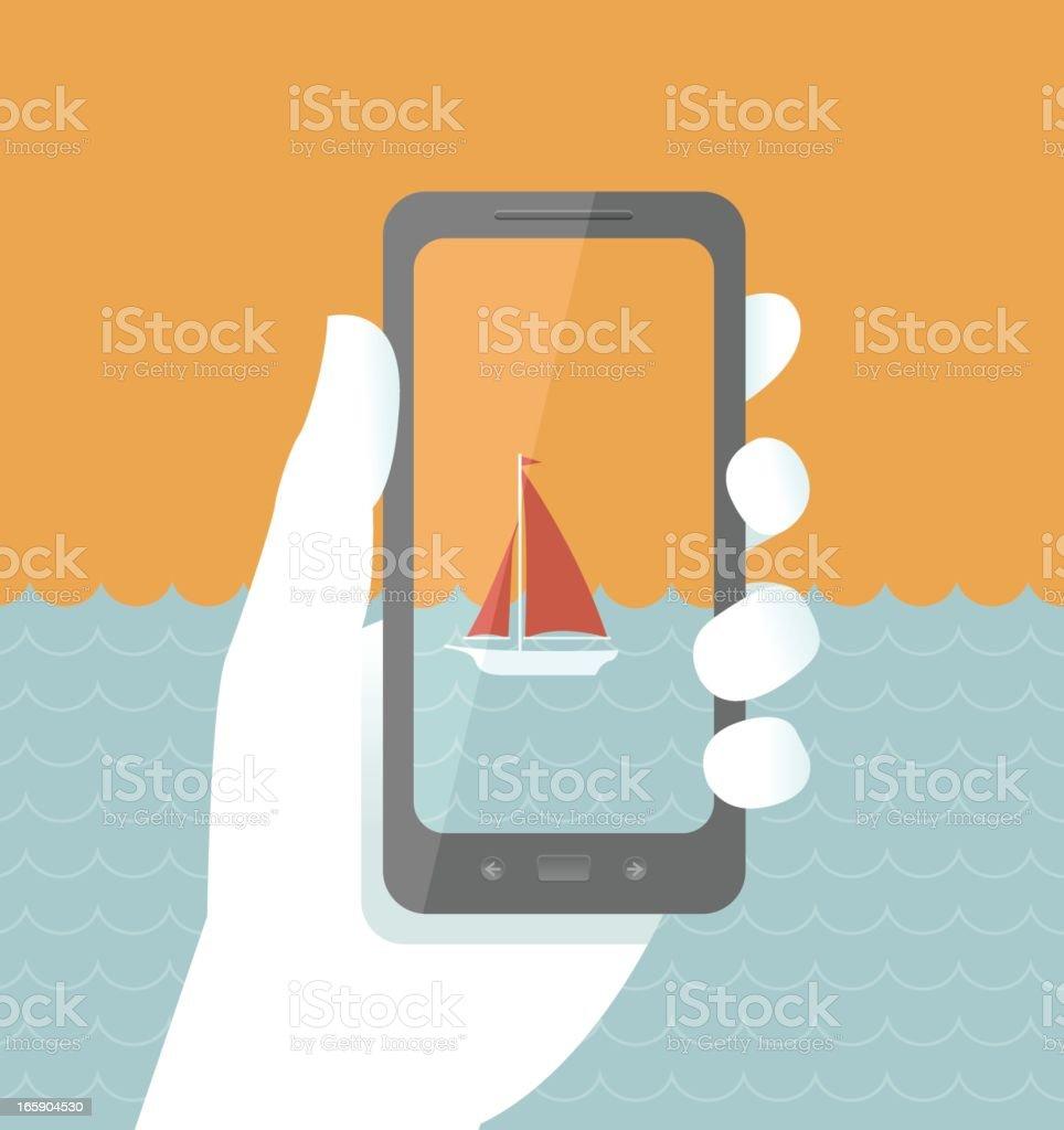 Smart Phone Camera and Video vector art illustration
