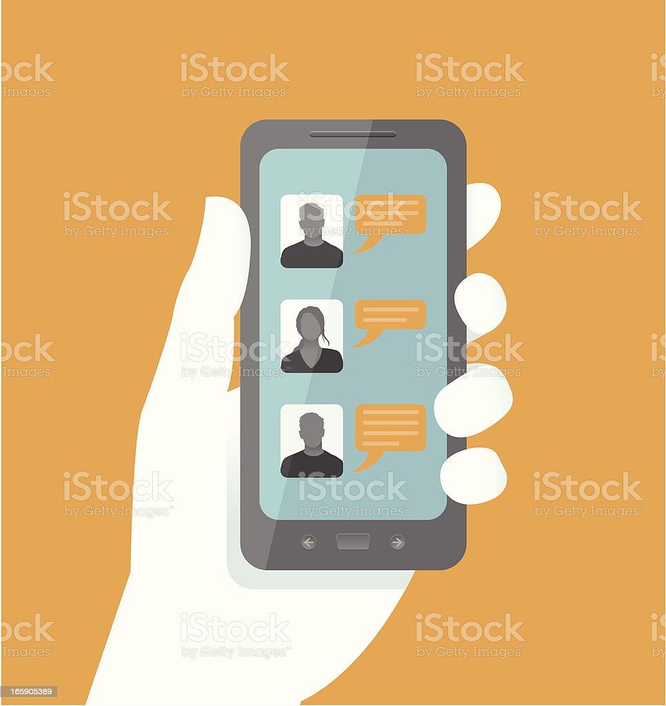 Smart Phone Chatting vector art illustration