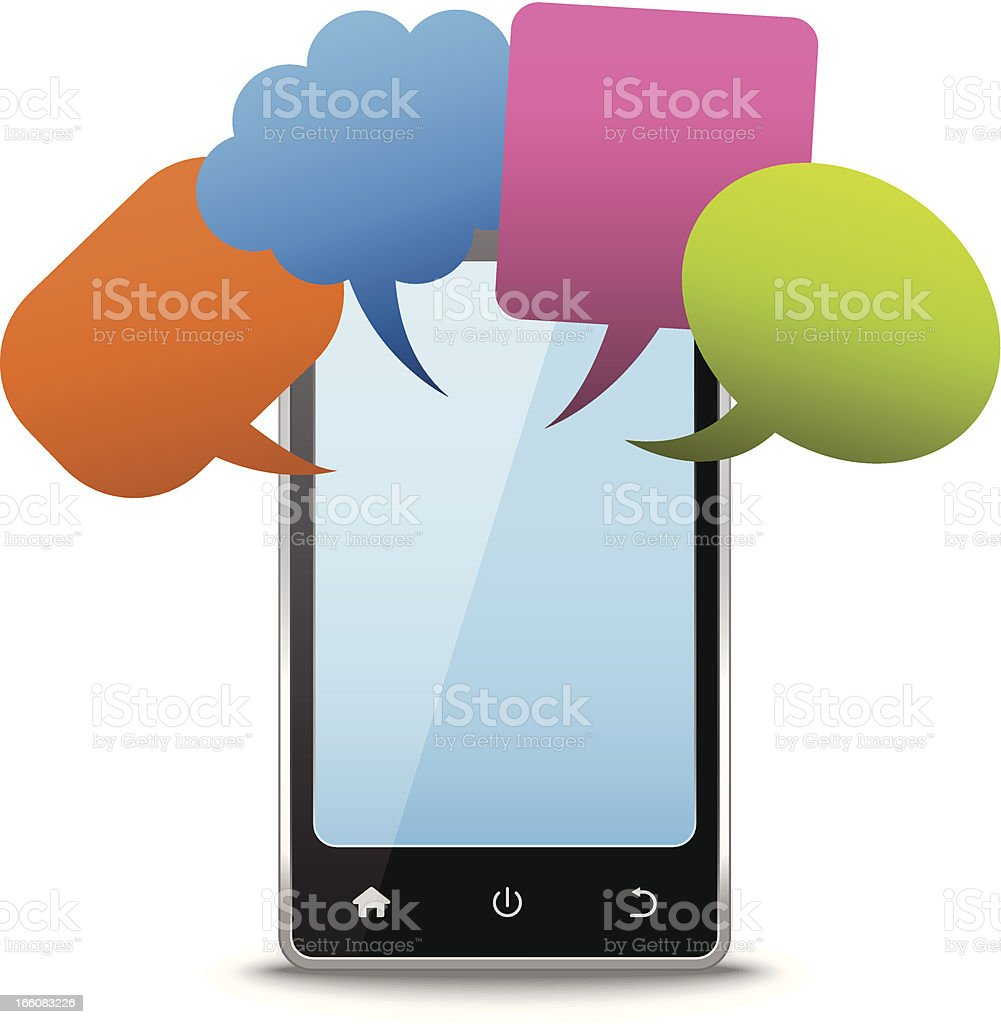 Smart phone chatting royalty-free stock vector art