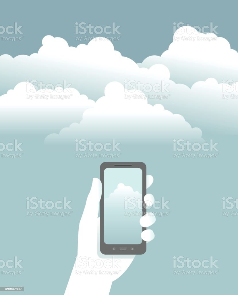 Smart Phone Cloud Computing royalty-free stock vector art
