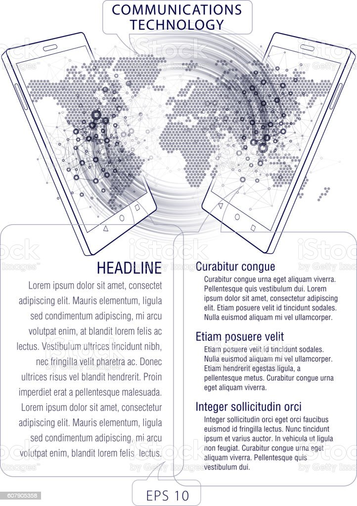 Smart Phone. Communications technology. vector art illustration