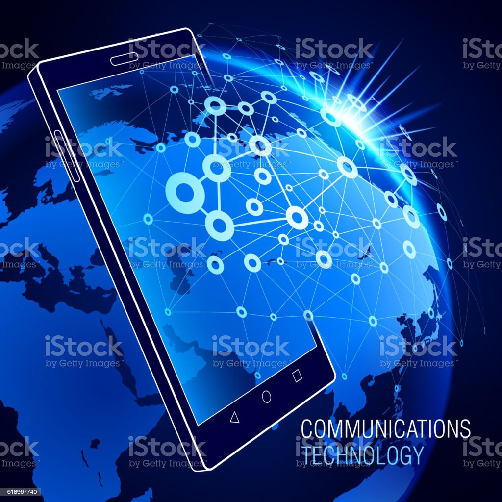 Smart Phone. Communications technology vector art illustration
