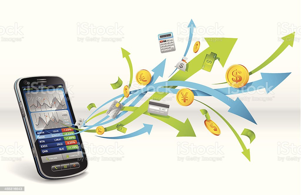 Smart phone for business royalty-free stock vector art