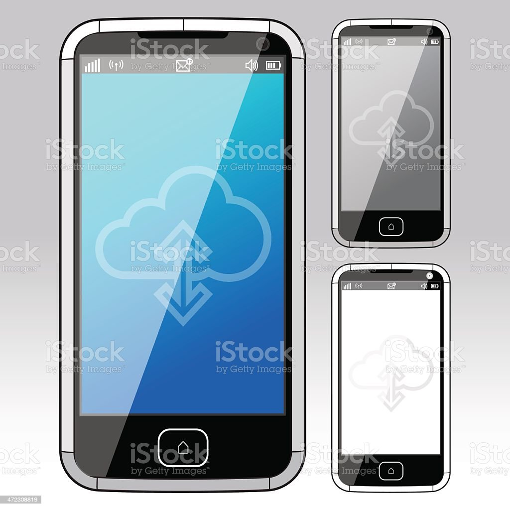 Smart Phone - Front view royalty-free stock vector art