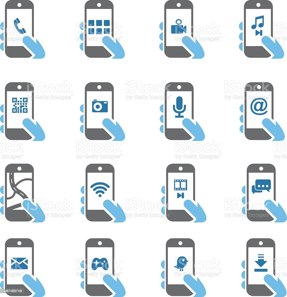 Smart Phone Functions icons - Color Series   EPS10 vector art illustration