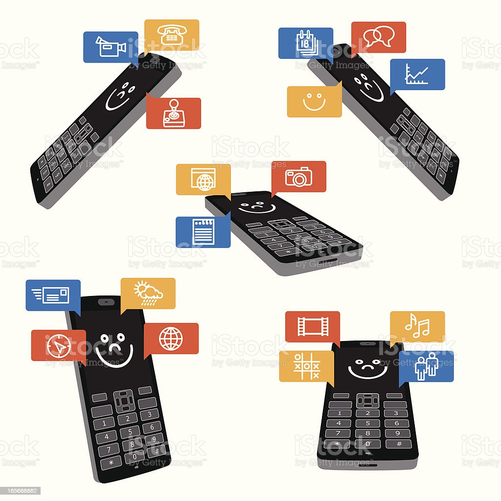 Smart Phone Icon Functionality royalty-free stock vector art
