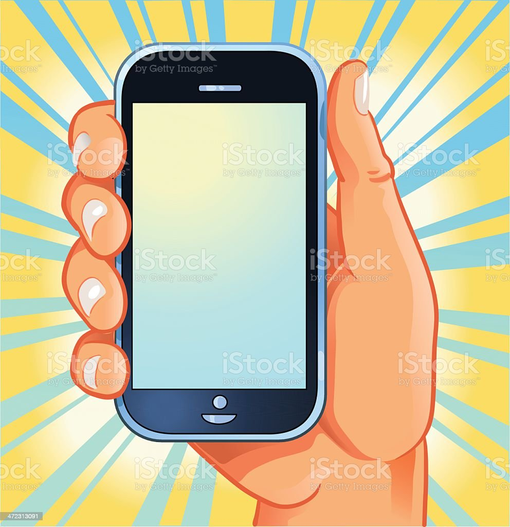 Smart Phone in the Hand royalty-free stock vector art
