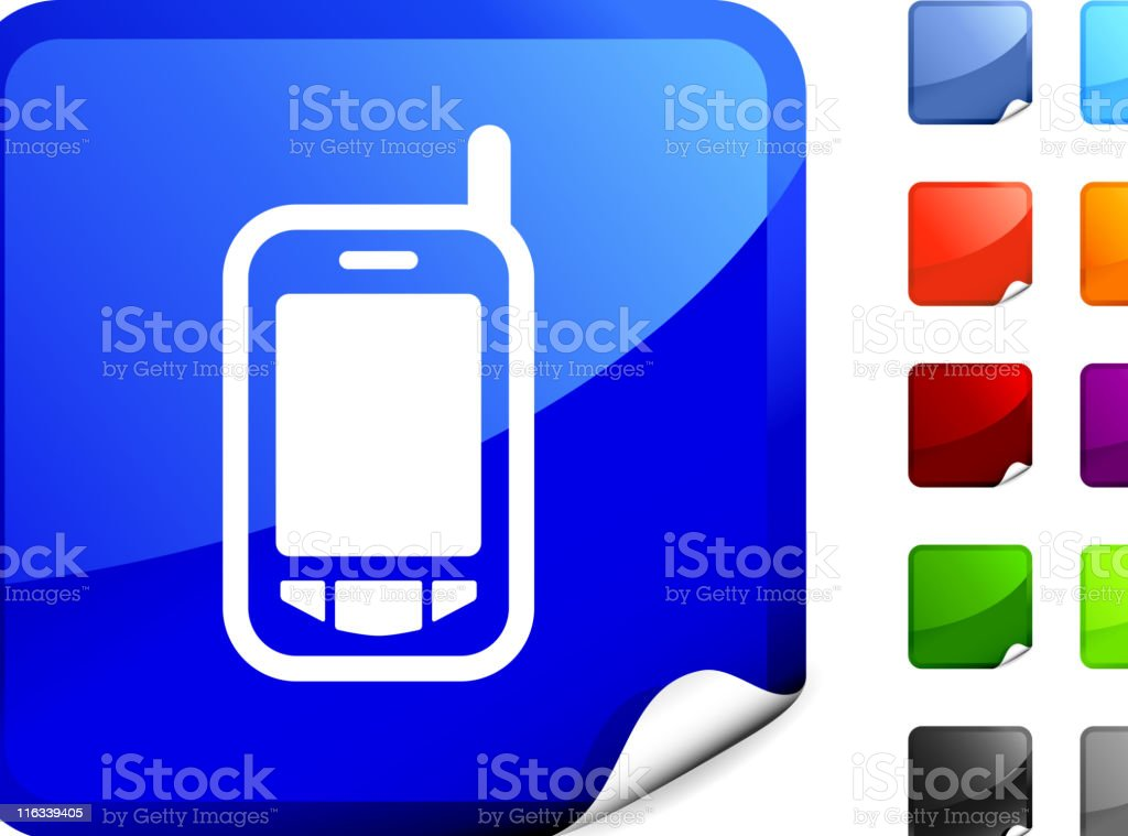PDA, smart phone internet royalty free vector art royalty-free stock vector art