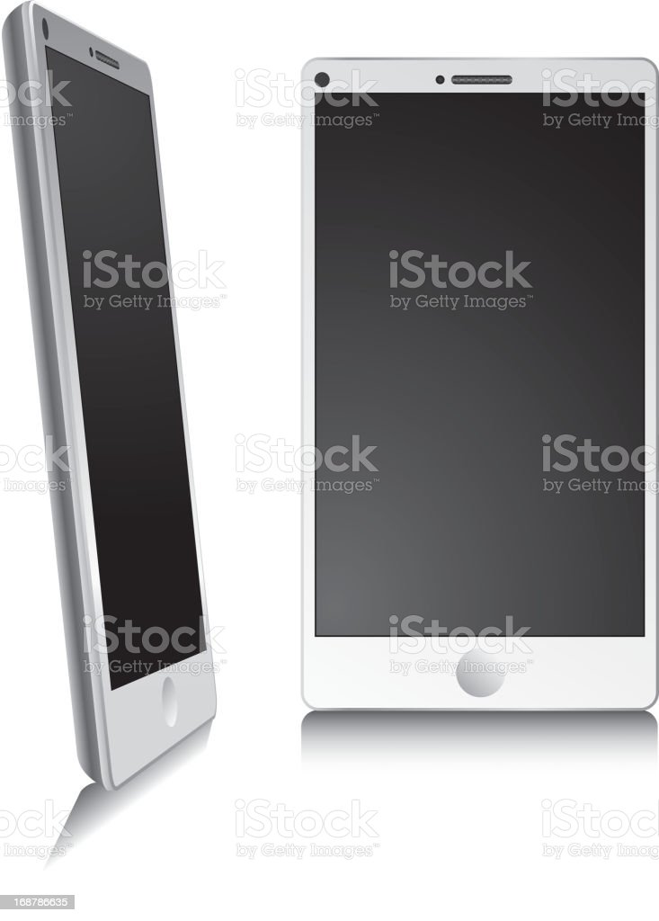 Smart phone isolated on white royalty-free stock vector art