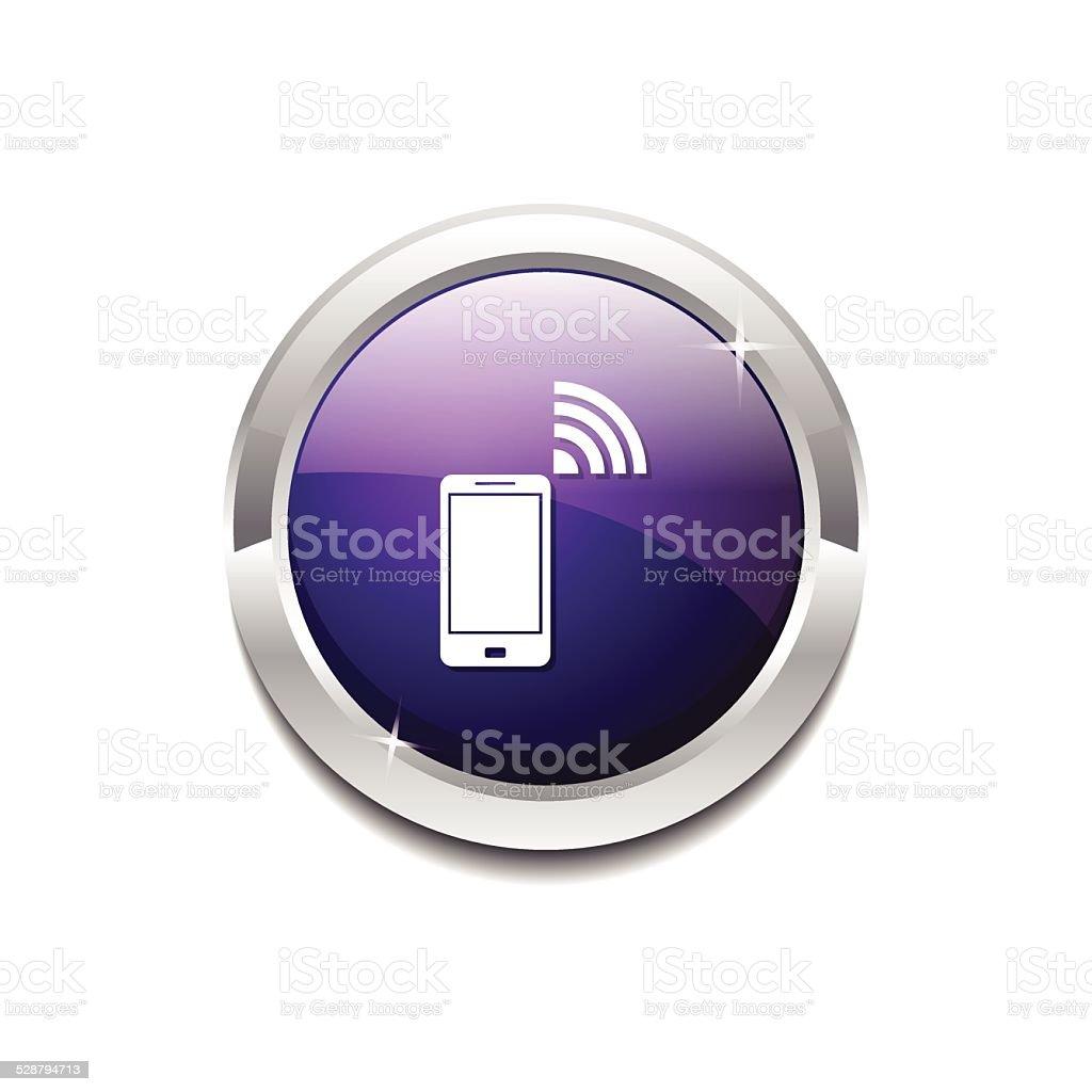 Smart Phone Purple Vector Icon Button vector art illustration