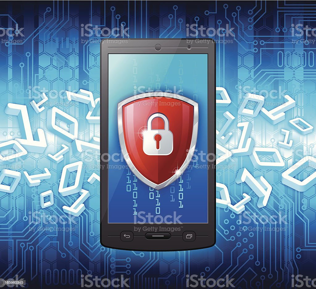 Smart Phone security concept royalty-free stock vector art